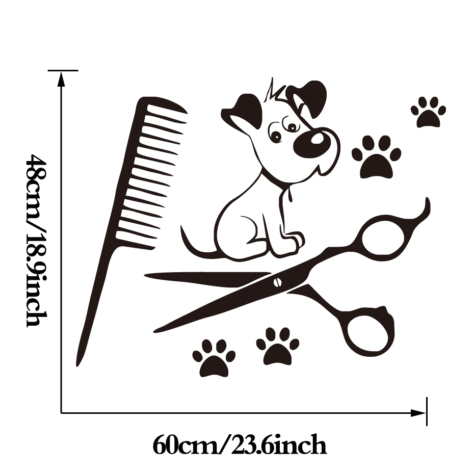 Cute Dog Paw Viny Wall Sticker Kids Room Art Decals Pet Shop Creative Wall Paper Bedroom Wall Decals Home Decor
