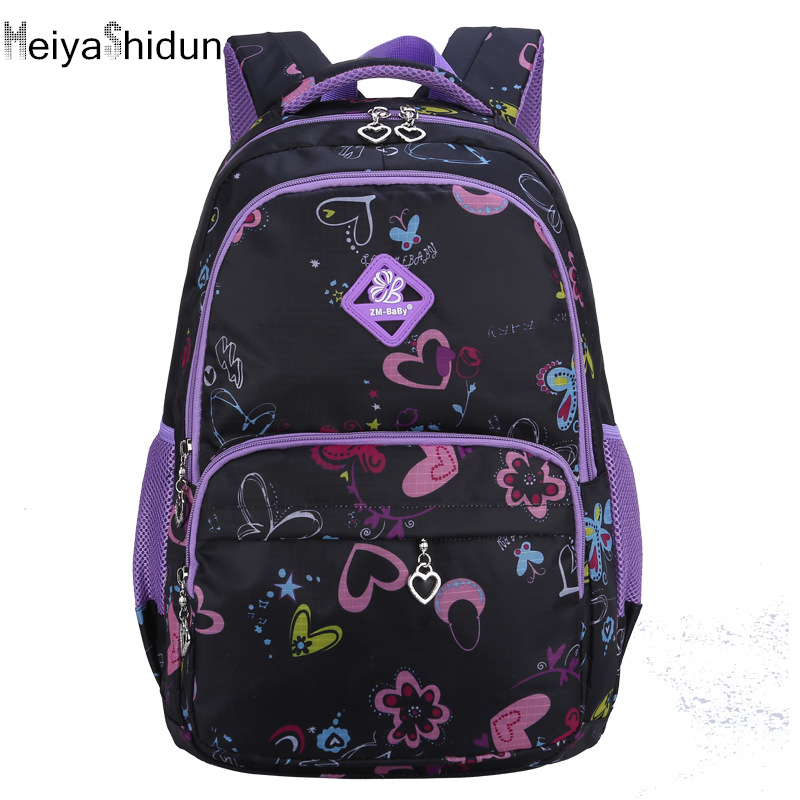 MeiyaShidun School Bags Children schoolbag Printing School Backpacks for Teenagers girls Rucksack Book daypacks Mochila Infantil