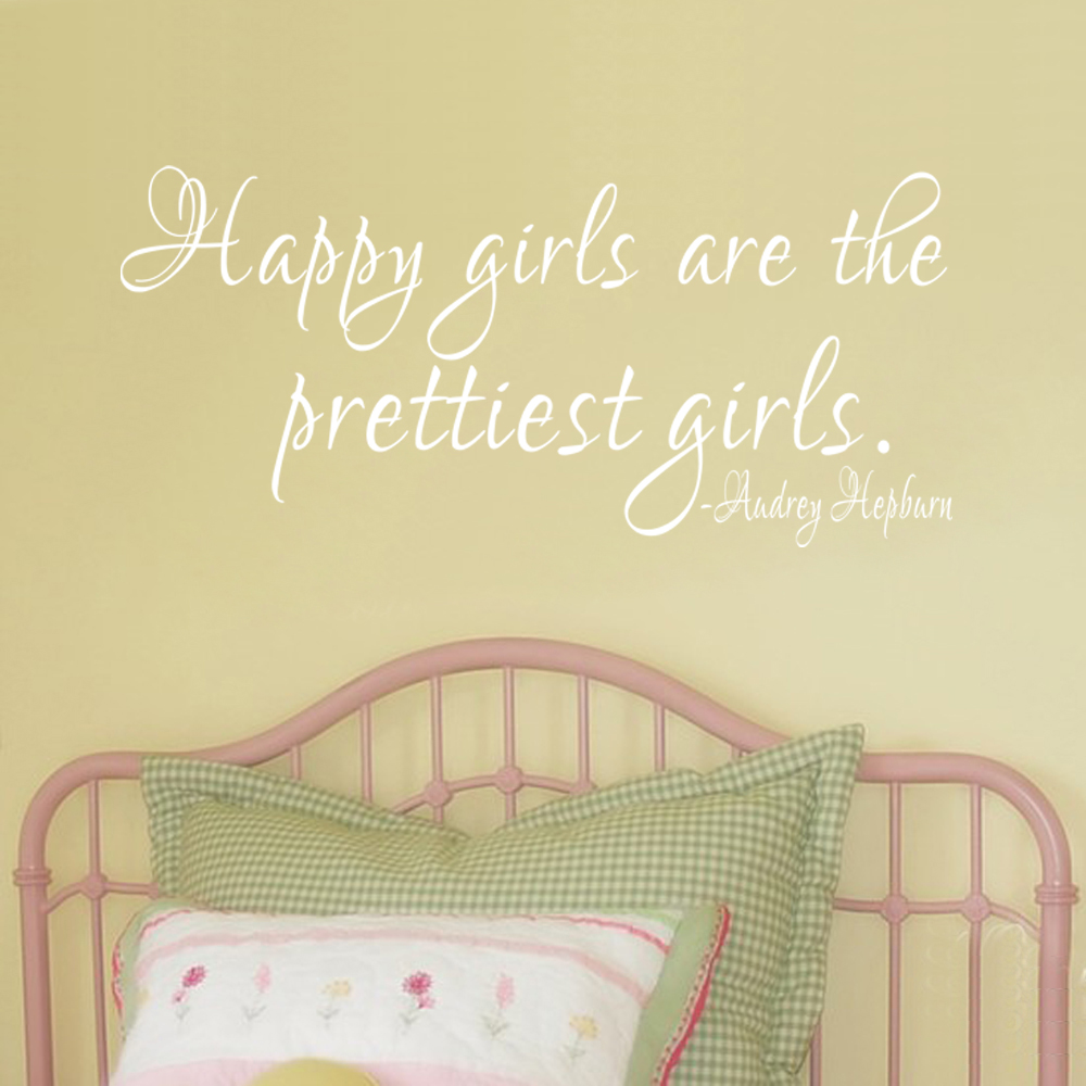 Buy happy girls prettiest decal and get free shipping on AliExpress.com