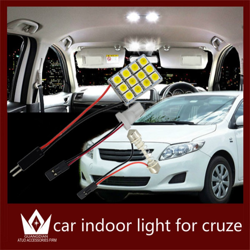 Guang Dian auto led light Interior lamp Roof bulb Dome Panel Reading led Trunk Light T10 festoon error free For Chevrolet Cruze guang dian car interior lamp roof bulb