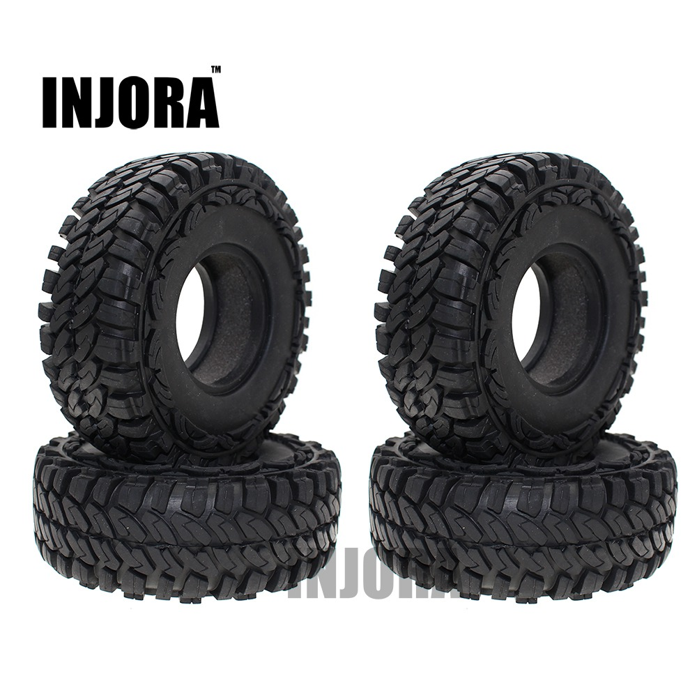 4PCS 114MM 1.9 Inch Rubber Wheel Tires for 1:10 RC Rock Crawler Car Axial SCX10 90046 Tamiya CC01 D90 D110 цена 2017