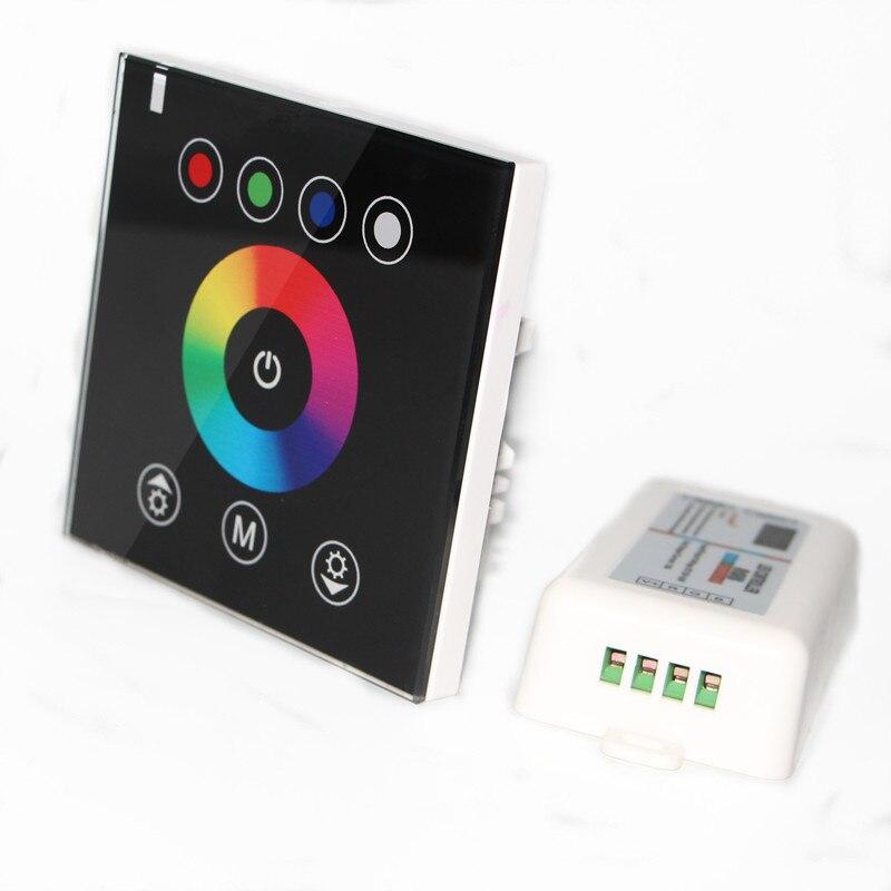 Rgb-controller Freies Schiff Wandschalter Rgb Touch Controller 2,4g Wireless-led Dimmer Kristall Glasscheibe Für Dc12v Led-lampe Streifen Seil Lichter