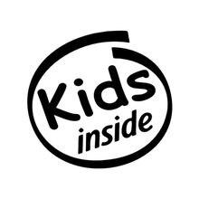 15.5x14.8cm crianças dentro engraçado preto/prata vinil decalque carro adesivo-estilo S8-0704