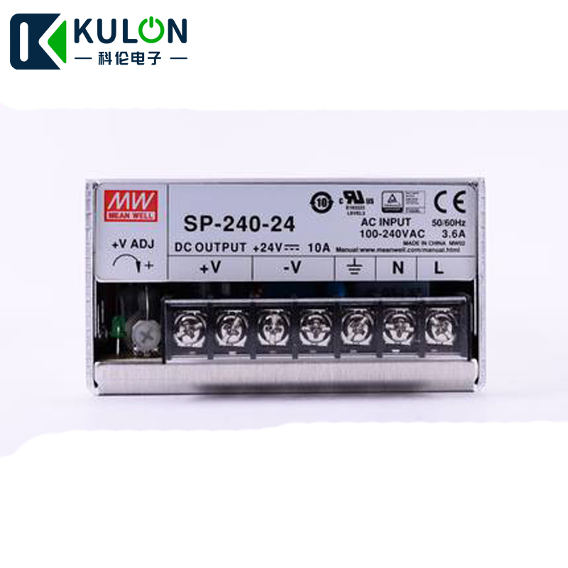 US $50 85 10% OFF|Original MEAN WELL SP 240 24 240W 10A 24V Meanwell Power  Supply 110V/220V AC to 24V DC with PFC function PF>0 95-in Switching Power