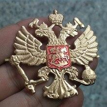 Россия, СССР, кепка, значок на лацкане, на булавке, винтажный античный классический ретро металлический значок, армейская сувенирная коллекция, двуглавый орел, эмблема