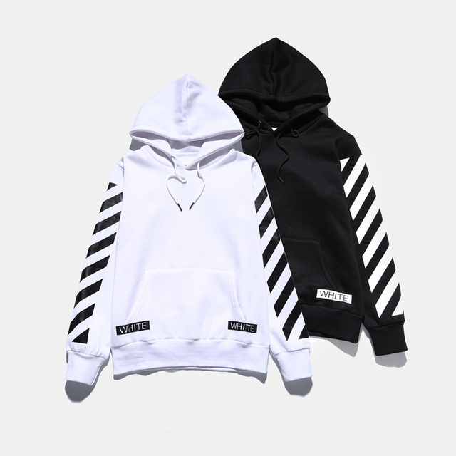 2aeee562d493 Off White Hoodie Men Women Good Quality 1 1 Hip Hop Striped Simple  Tracksuit Off