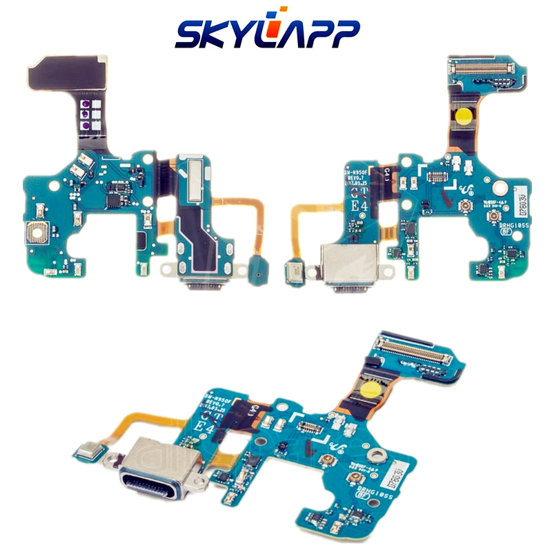 Flat-Cable-for-Samsung-N950F-Galaxy-Note-8-N950FD-Galaxy-Note-8-Duos-Cell-Phones-charge-connector-microphone-with-components_副本