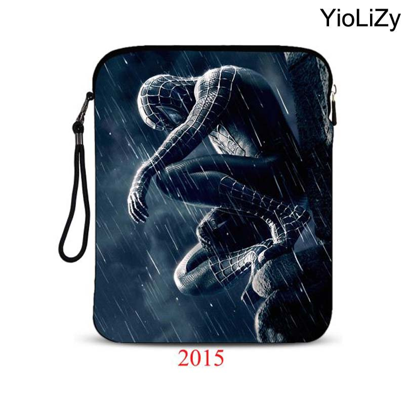 Spiderman print 9.7 10.1 inch tablet Cover laptop bag pouch waterproof shockproof notebook Case For galaxy tab case IP-2015 metal ring holder combo phone bag luxury shockproof case for samsung galaxy note 8