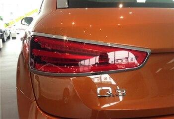 Lapetus Bên Ngoài Tái Trang Bị Bộ Cho Xe Audi Q3 2013-2018 ABS Chrome Đèn Hậu Sau Họa Tiết Rằn Ri Nét Ta 016RAR Khung Đèn Ốp Viền
