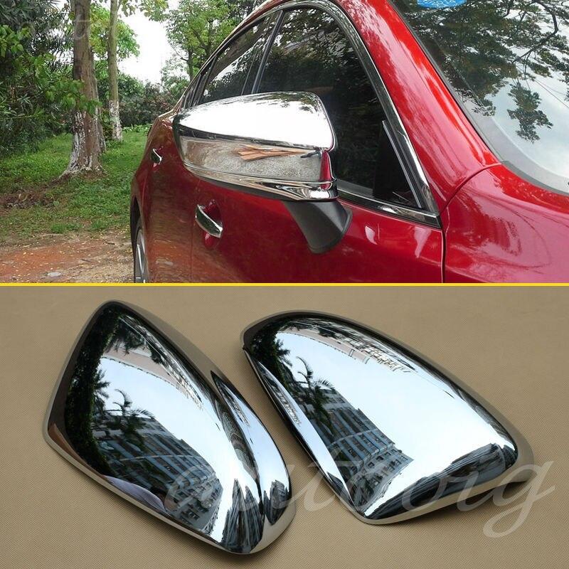 2005 Mazda Mazda6 Exterior: Chrome Exterior Side Mirror Cover Back Rear View FOR 2014