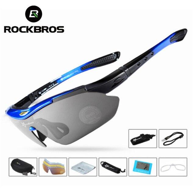 bed20d7d6d Con caja embalado venta al por mayor gafas de sol polarizadas Clip para la  miopía corta. Rockbros ciclismo gafas polarizadas gafas de sol 5 lente mtb  ...