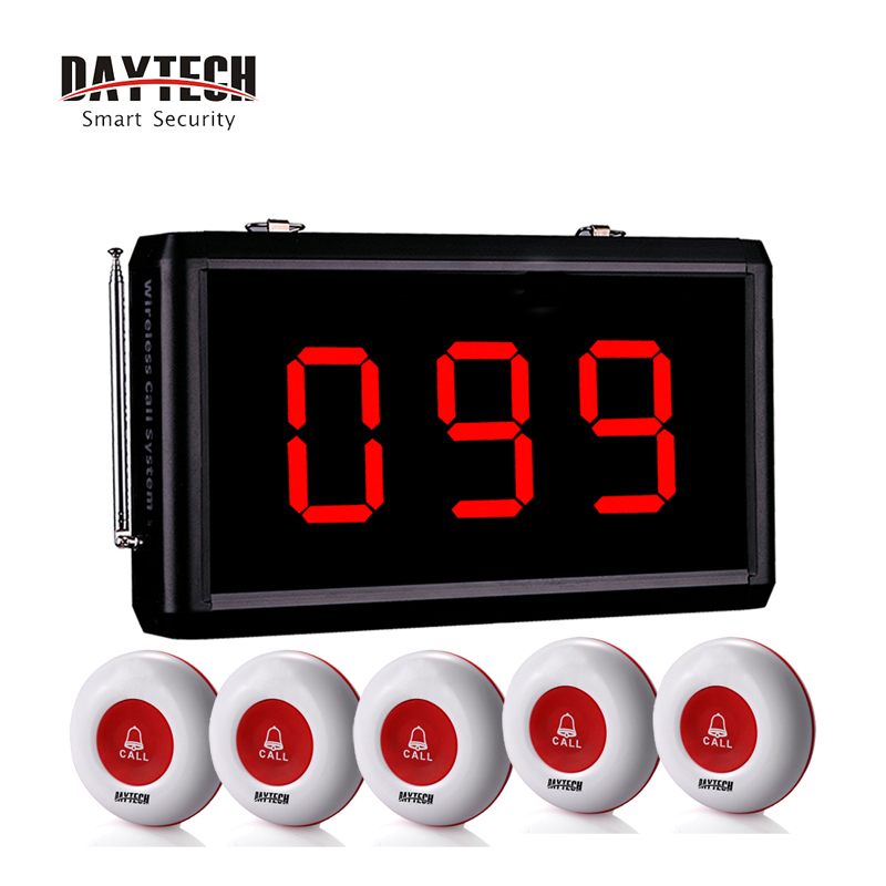 DAYTECH Wireless Pager Calling System Waiter Service Calling System Waterproof Call Button for Restaurant/Hotel/Cafe.etc цены