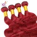 Recién llegado de malasia rojo pelo suelto Wave Hair 7A rojo burdeos rojo de extensión malasia del pelo humano de la armadura Bundle