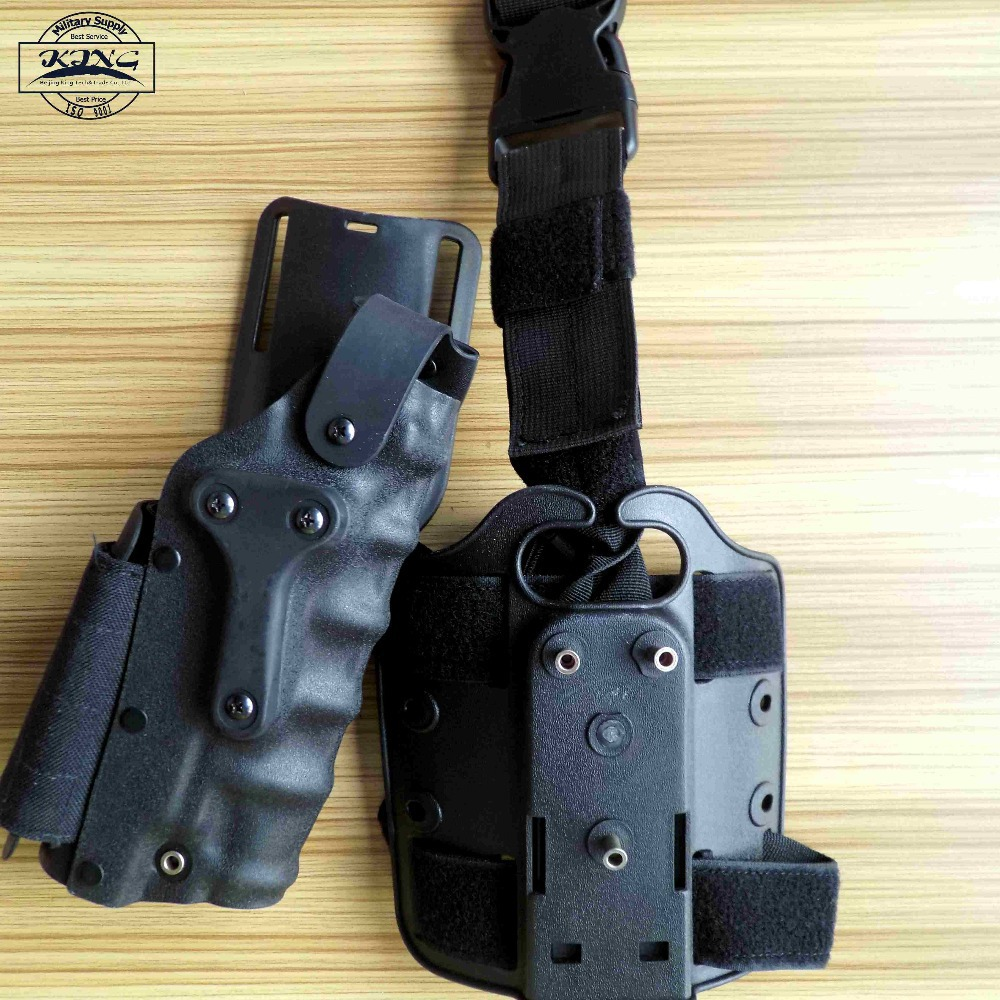Tactical Holster Set w/ leg Platform Hunting Right Left Hand Use Drop Leg Hoster for GL 17 19 22 23/ 1911 / M92 M9