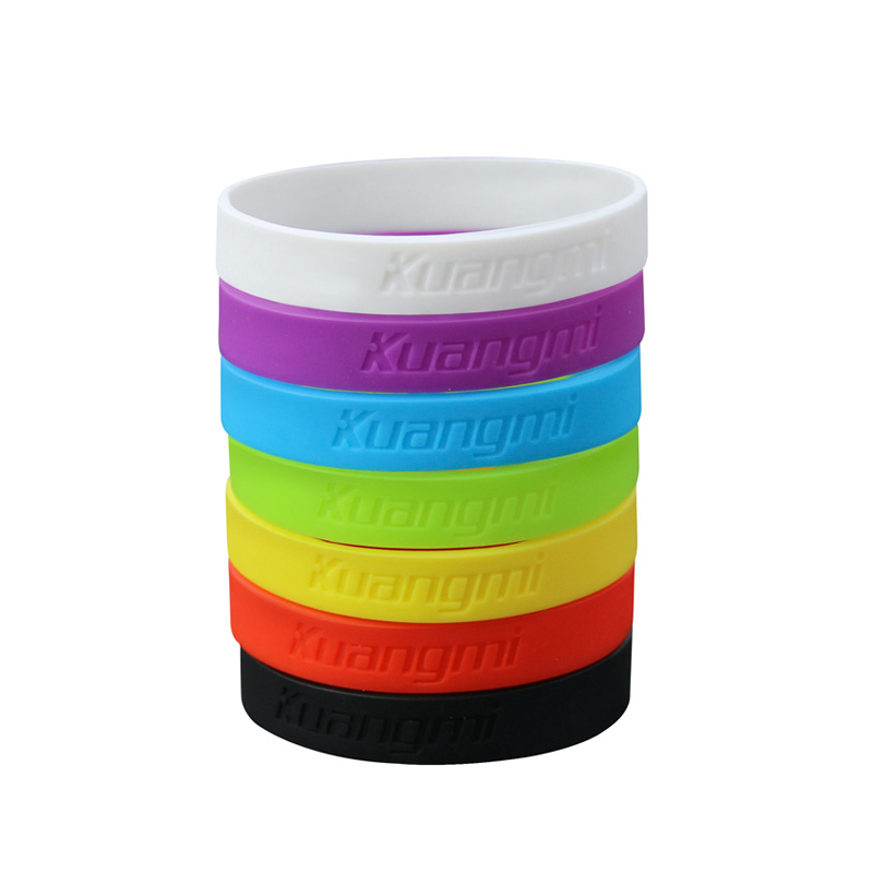 10 Pcs New Kuangmi Gym Bodybuilding Basketball Power Bands Bracelets Fitness Sport Silicone Wristbands Decoration in Wrist Support from Sports Entertainment