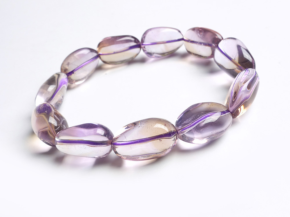 Oval Fashion Jewelry Crystal Beads Bracelet Genuine Natural Purple Yellow Quartz Charm Stretch Bracelet 8mm genuine natural purple sugilite crystal beads women lady fashion gems stone jewelry stretch bracelet