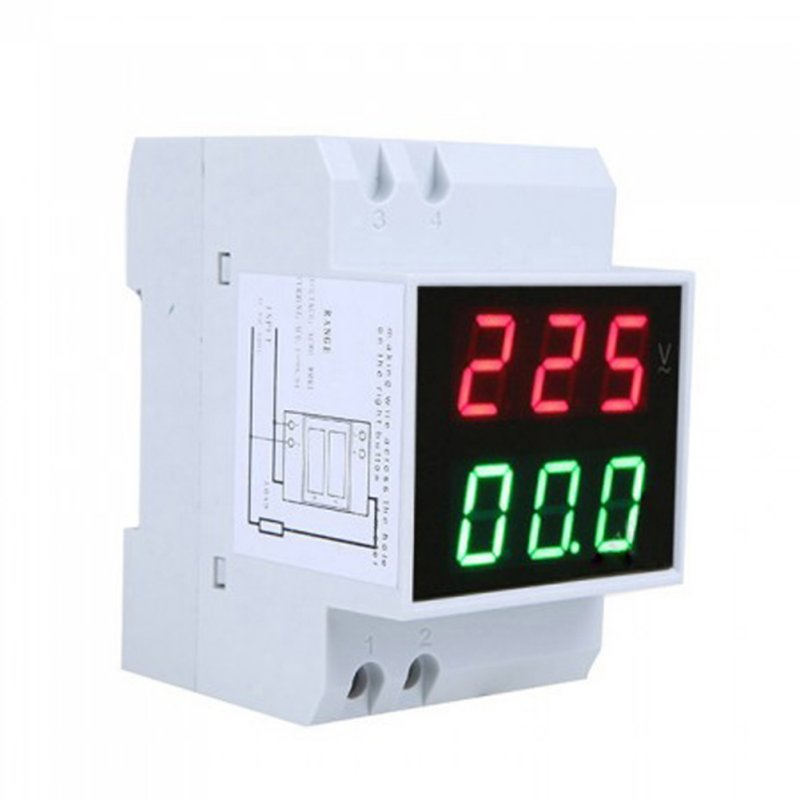 LED Volt Amp Meter Display Ammeter Voltmeter Din Rail Active Power Factor Time Energy Voltage Current ac 80 300v 0 2 99 9a ammeter voltmeter din rail led volt amp meter display active power power factor time energy voltage current