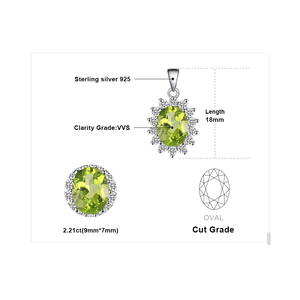 Image 5 - Peridoto naturale Del Pendente Della Collana 925 Sterling Silver Pietre Preziose Collana di Dichiarazione Choker Delle Donne arg