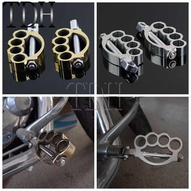 HEEL SHIFTER PEG FOR HARLEY PAIR of CHROME MOTORCYCLE SPIKE TOE