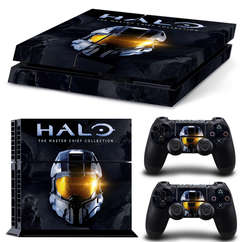 Zibbor video game halo face vinyl decal skin sticker for play video game halo face vinyl decal skin sticker for play station 4 ps4 console 2 aloadofball Image collections