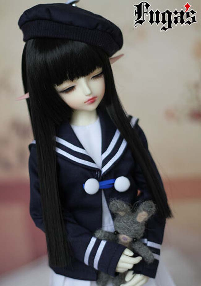 New Arrival 1/3 1/4 1/6 Bjd Wig High Temperature Wire Black Colors Straight Beautiful Wig For BJD Hair