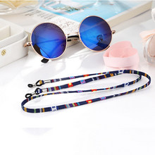 New Eyeglass sunglasses cotton neck string cord retainer strap eyewear lanyard holder with good silicone loop(China)