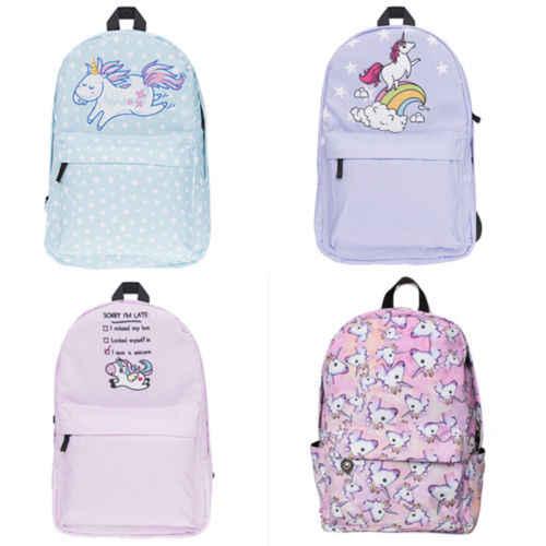 5b5905e28ed Multi Colour Unicorn Rainbow girls backpack Fantasy teenager School bag  Student Travel backpack