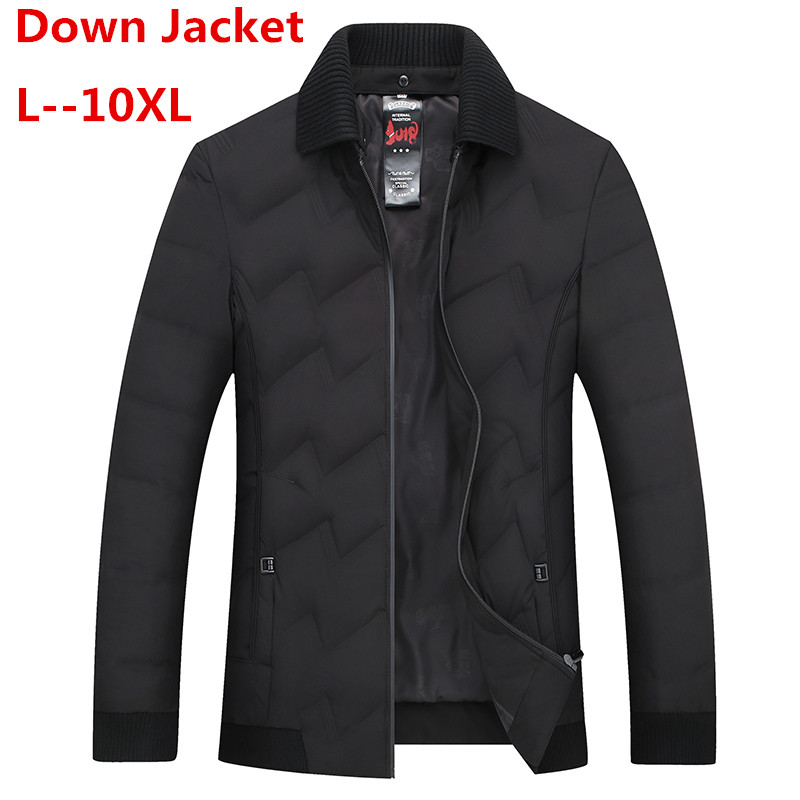 10XL 8XL Men Down Jacket Winter New Light Short Coat 90 Velvet Warm Casual Fashion Clothes For Male Winter Thin Men Down Jackets