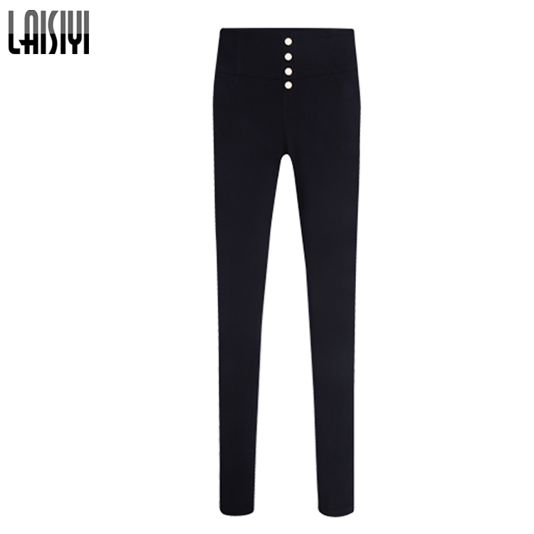 LAISIYI Fashion Leggings 2017 Spring High Waist Pencil Pants Trousers Women Elastic Pants Big Size Pantalones Mujer 4XL 5XL 825