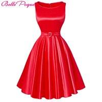 Summer Dress Audrey Hepburn 50s Vintage Party Dresses Vestidos Black Red Purple Plus Size Casual Retro