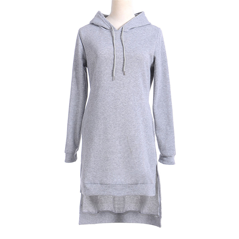 Spring Hoodie Dresses Pullovers Long Casual Tracksuit For Women Dress Pockets Casual Loose Sweatshirts Clothing Vestidos