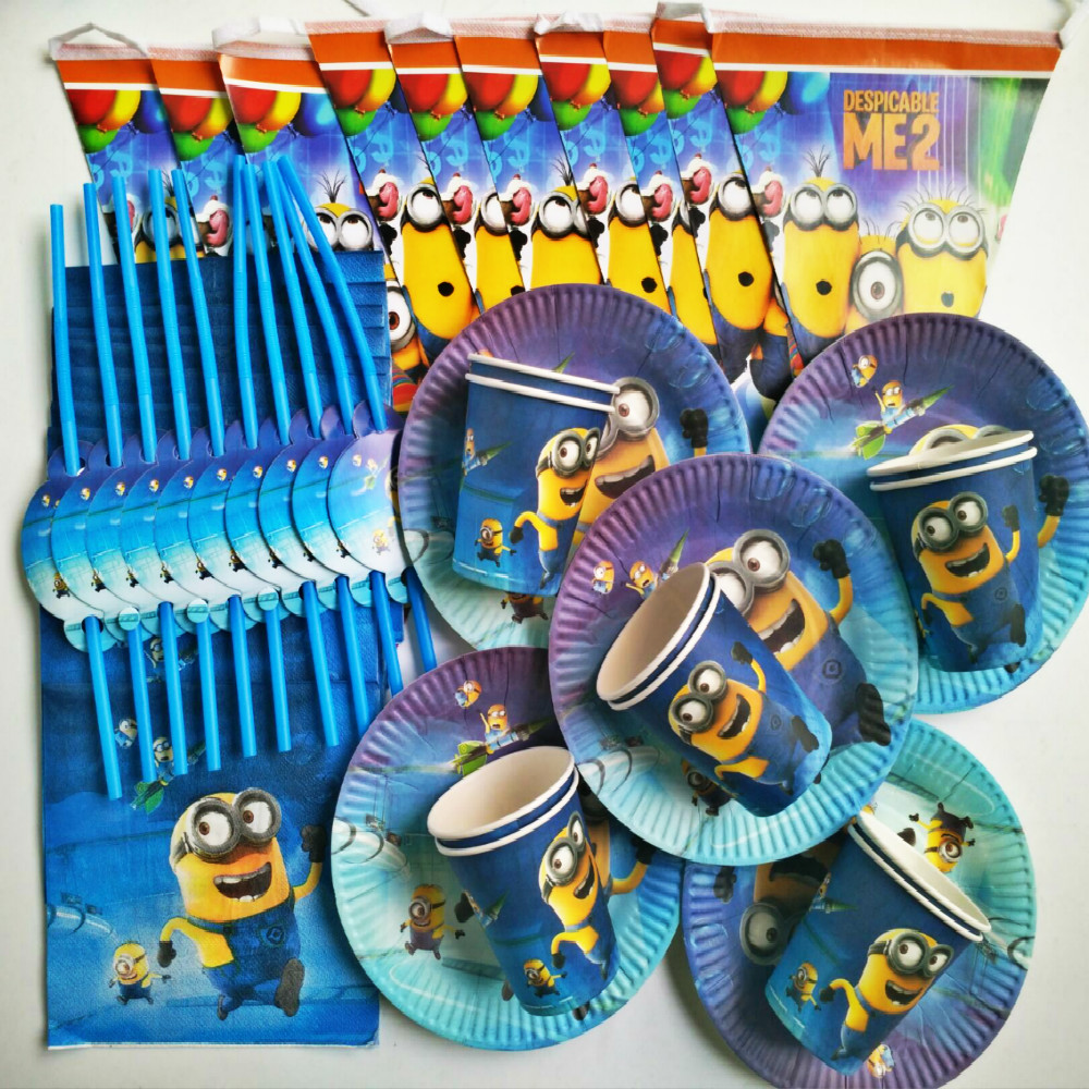 Aliexpress.com : Buy Minions Happy Birthday Banner Straw