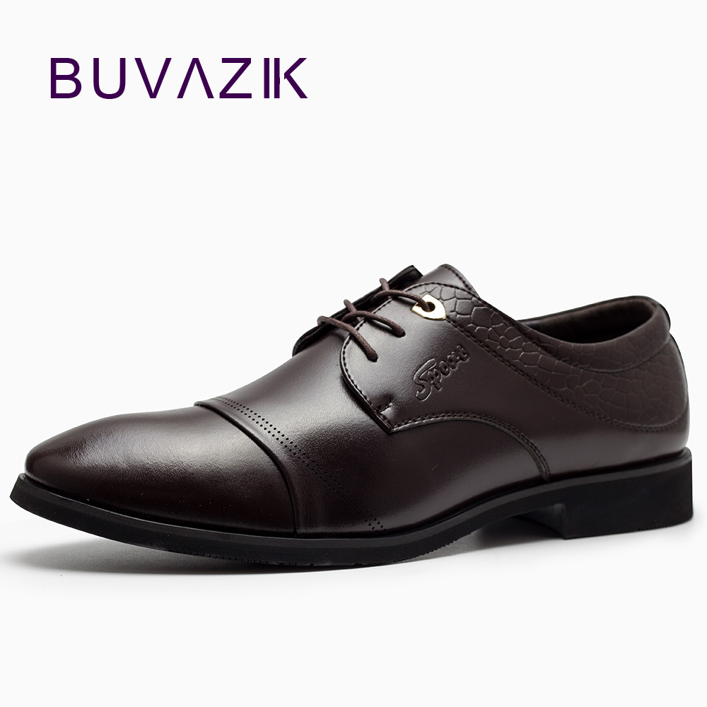 2017 NEW Men's Formal Shoes Italian Stylish Mens Wedding Black Microfiber Leather  Party  Business Dress Male Oxfords top quality crocodile grain black oxfords mens dress shoes genuine leather business shoes mens formal wedding shoes