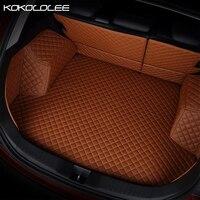 [KOKOLOLEE] Пользовательские багажнике автомобиля коврики для Audi a3 a4 b6 b8 a6 a5 q7 бежевый красный водонепроницаемая обувь черного цвета авто аксесс
