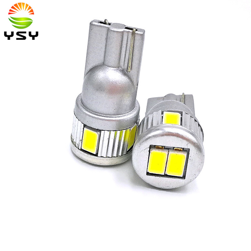 100pcs White T10 194 5630 6SMD LED Lights Bulbs For Vehicle Replacement License Plate Lamp Roof Light Reading Lamp
