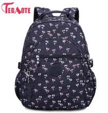 プレッピースタイルの女性ナイロンバックパックスクールバッグ十代の少女の女性のバックパック女性旅行バッグ Mochila Femini 983