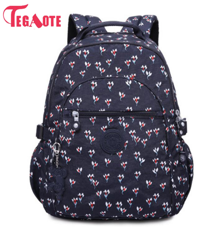 Preppy Style Women Backpack Nylon Backpack School Bags For Teenage Girls Women's Backpacks Female Travel Bag Mochila Femini 983