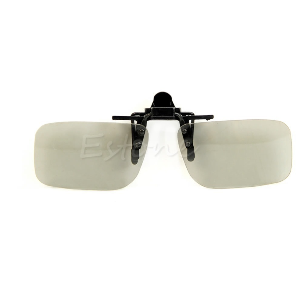 1 PC Clip On type Passive Circular Polarized 3D Glasses Clip for 3D TV Movie