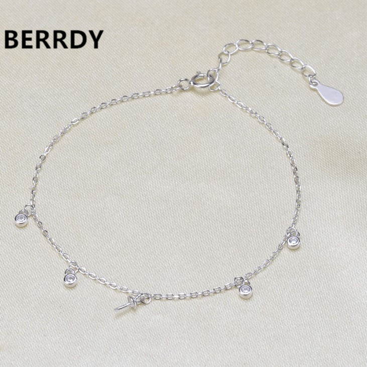 2 COLOR 925 Silver Bracelet Chain Fashion Charm Bracelet Chain Settings Jewelry Parts Fittings Charm Accessories
