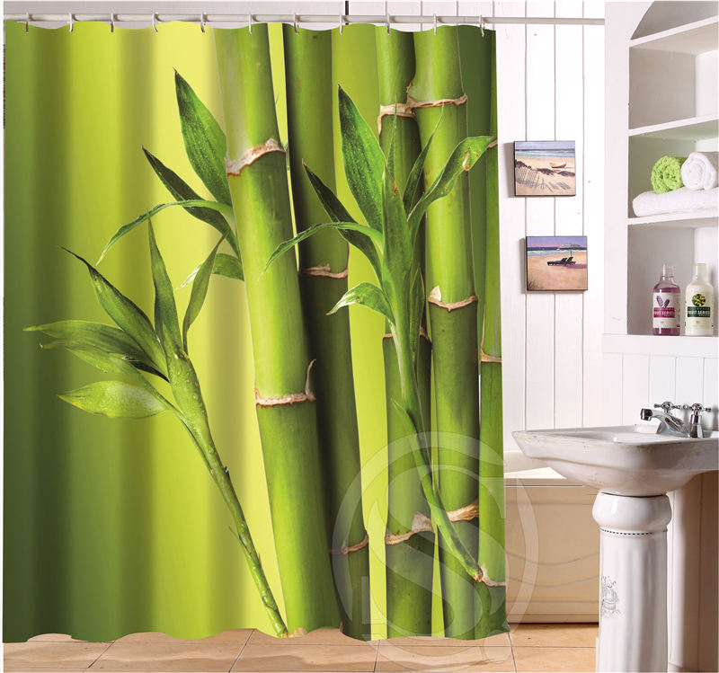 free shipping bamboo custom shower curtain more size waterproof fabric shower curtain for bathroom sq0427