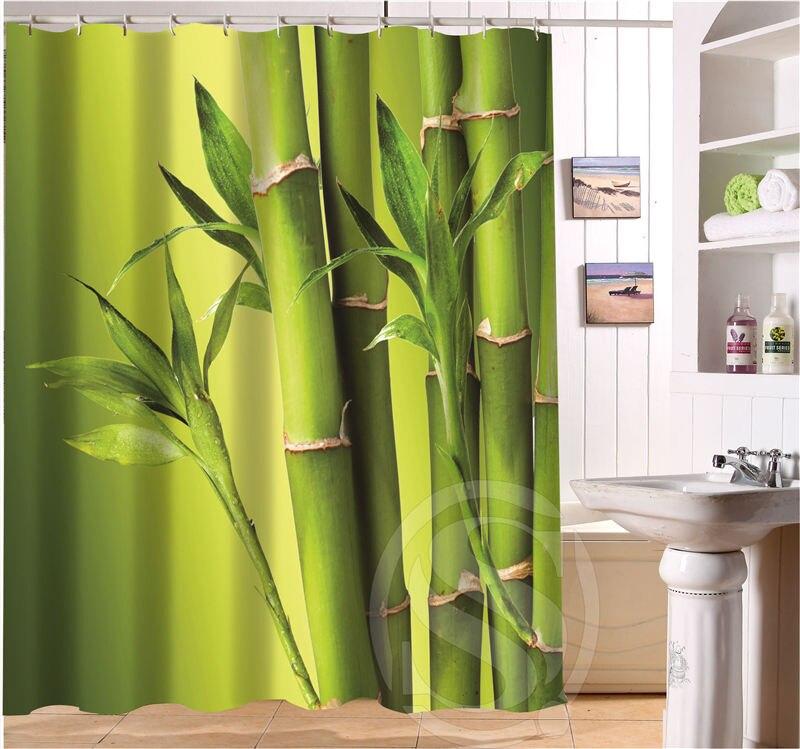Tessuto Tenda Doccia.Us 17 1 55 Di Sconto Trasporto Libero Di Bambu Tenda Doccia Personalizzata Piu Il Formato Impermeabile Tessuto Tenda Della Doccia Per Il Bagno