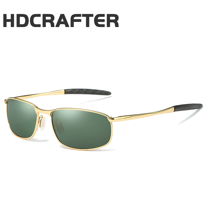 HDCRAFTER Brand Men Polarized Sunglasses man eyewear metal frame for men sunglasses Driving fishing glasses UV400 ...