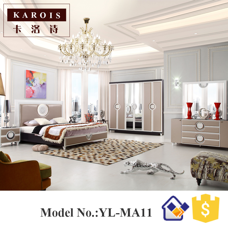 guangdong foshan latest double bed designs modern bedroom furniture set. beautiful ideas. Home Design Ideas
