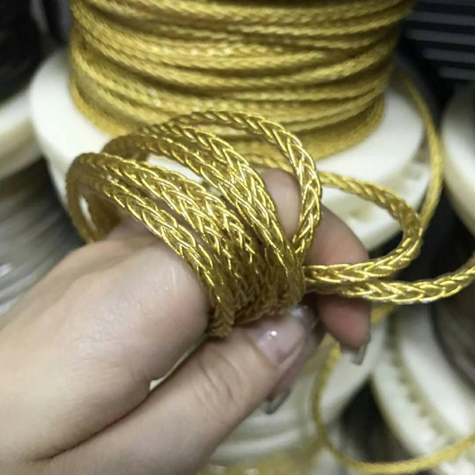 OKCSC 7N 152 Core кабель наушников ткачество DIY аудио провода чистый один кристалл медь позолоченный 5 м
