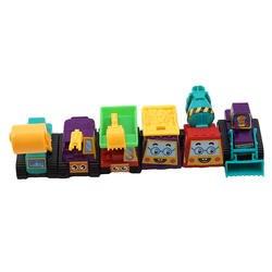 6 шт./компл. пластик имитировать прицепы инерции грузовик гоночный автомобиль смешные гаджеты Новинка интересные игрушки для детей подарок