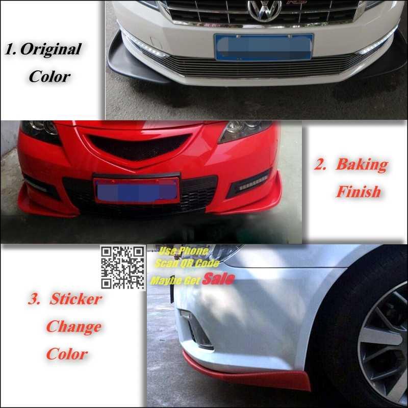 Splitter Diffuser Bumper Canard Lip For Audi A1 2010 2016 Tuning Body Kit Car Front Deflector Flap Fin Chin Spoiler Deflector