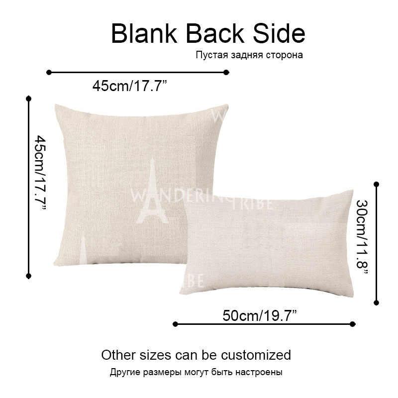Удобные Чехлы для подушек в стиле кантри на высоком каблуке, чехлы для диванных подушек, 18 хлопковых льняных декоративных цветов, наволочка для декоративной подушки