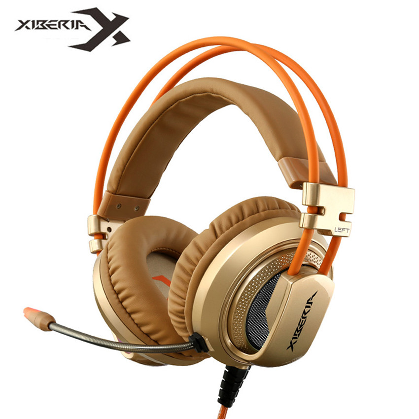 Xiberia V10 Over Ear Wired Gaming Headphones With Microphone Mic Led Light for Computer Laptop Bass Headset PC Gamer Best Casque original xiberia v5 usb wired gaming headphone super bass stereo headset microphone over ear noise lsolating pc gamer headphones