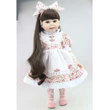 45cm Boneca Bebe Reborn Dolls for Girls Full Vinyl Silicone Dolls Fashion Princess Girl Gifts Silicone Dolls Reborn Toy for Girl цена