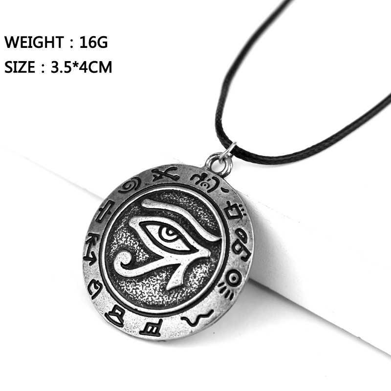 Collier pendentif œil d'horus evil talisman
